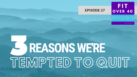27. 3 Reasons We're Tempted to Quit